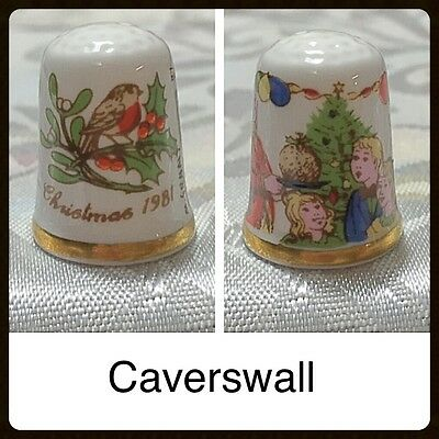 Caverswall Thimble - Christmas 1981