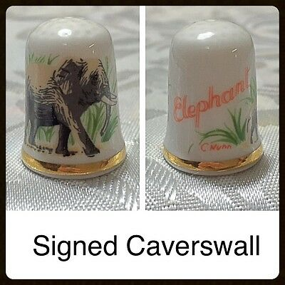 Caverswall Thimble - Elephant