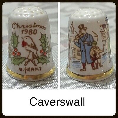 Caverswall Thimble - Christmas 1980
