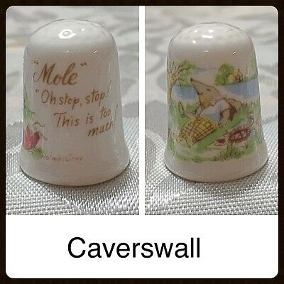 Caverswall Thimble - Mole - Wind In The Willows