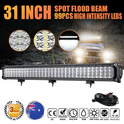 """28Inch 630W Philips Led Work Light Bar Spot Flood Offroad Lamp Truck 4WD 20""""/30"""""""