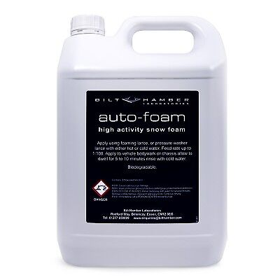 Bilt Hamber Auto-foam 5 Litre Snow Foam detailing pre prep, power wash.OFFER