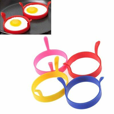 Kitchen Silicone Fried Fry Frier Oven Poacher Pancake Egg Poach Ring Mould WL