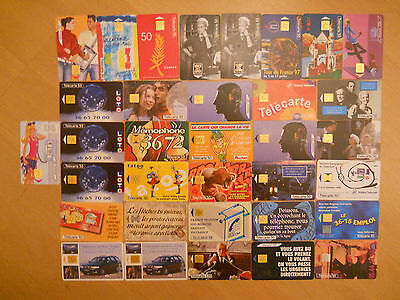 Job Lot of 69 Vintage Telephone Cards - France and Italy from the 1990ies