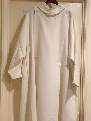 Off White Clerical Cassock with Rope Belt
