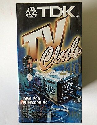 TDK TV Club 240 VIDEO TAPE, TDK E-240TVCLEA (IDEAL FOR TV RECORDING)VHS X 6