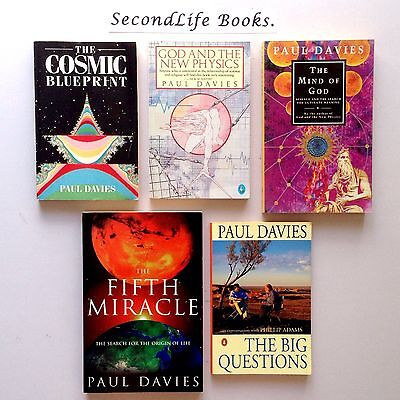 x5 PAUL DAVIES Book Lot ~ God Physics Cosmic. Oz Seller Fast Postage!