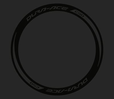 NEW! REFLECTIVE BLACK DURA ACE C50 or C35 RIM DECAL SET  FOR TWO WHEELS