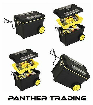 Stanley Heavy Duty Professional Mobile Tool Box Chest Wheels 613 x 375 x 419mm