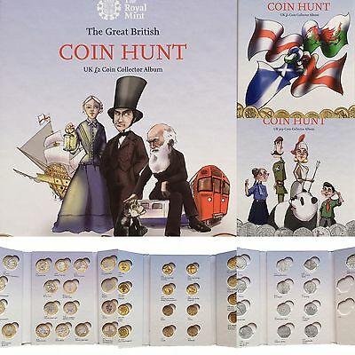 Great British Coin Hunt Collecting Books 50p, £1, £2
