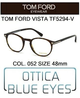 Occhiali da Vista TOM FORD TF5294V 052 48mm eyeglasses brillen  FT PHANTOS ITALY