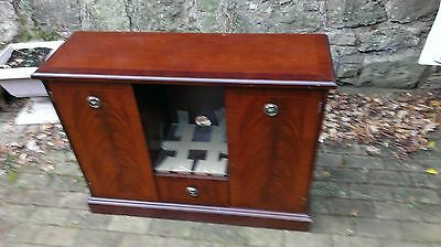 Vintage  Mahogany  Finish  Side  Cabinet