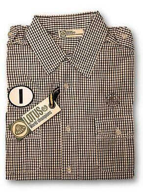 SHIRT LHM09(V2) Shortsleeve Patched Lotus Originals Collection NEU BW Check M DE