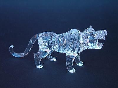 Tiger Solid Glass Wild Animal Ornament