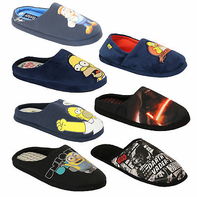 9640d03e0b7c83 MENS SLIPPERS homer simpsons minions Star Wars tetley mule sandals novelty  duff - EUR 14