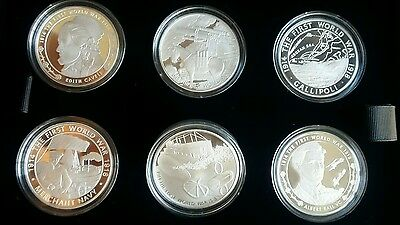 The Royal Mint First World War 2015 UK £5 Silver Proof Six-Coin Set