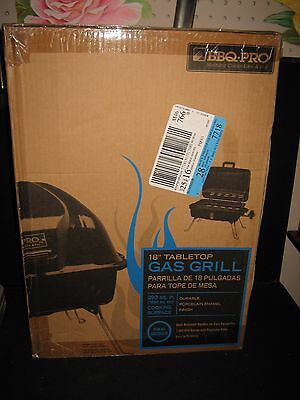 "BBQ PRO Black 18"" Tabletop Gas Grill New in Box 293 sq in Cooking Surface"