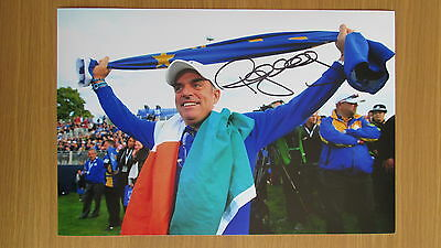 """hand signed 2014 Ryder Cup Golfer """"Paul McGinley"""" 12""""x8"""" photo (COA)"""