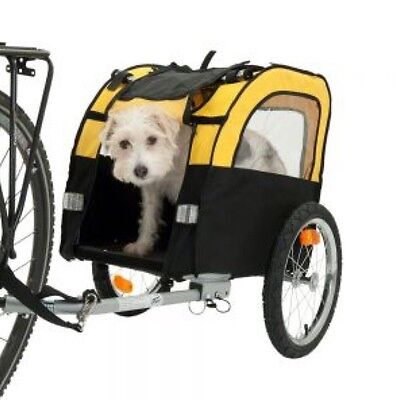 Dog Bike Trailer FREE 2nd Bike Hitch Puppy Pet Transport Travel with Lead