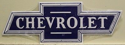 CHEVROLET BOWTIE LOGO embossed metal sign cut to shape chevy m-316
