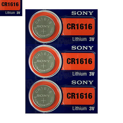 3 x SONY Lithium CR1616 batteries 3V Coin Cell DL1616 BR1616 KRC Watch EXP:2025