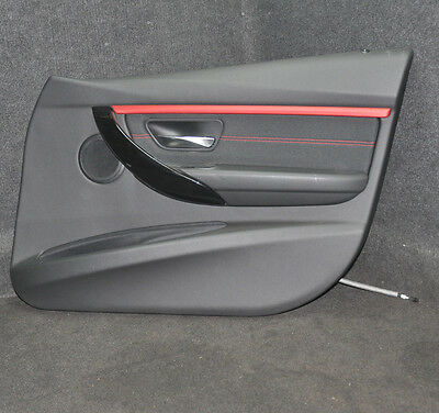 BMW 3-Series F30 Front Right Door Card With Red Trim 2083492 2014 LHD Bare