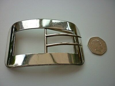 Vintage large solid silver buckle