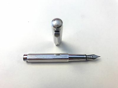 Brand New Authentic Caran d'Ache Ecridor XS Retro Fountain Pen Palladium Finish