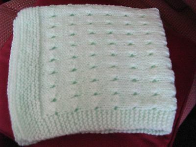 Small Hand Knitted Blanket New