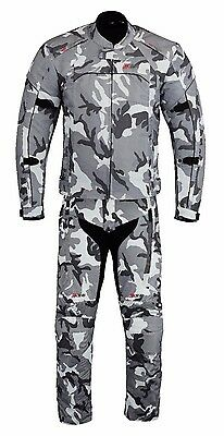 Camo Waterproof Thermal Motorbike Motorcycle Jacket Trouser Textile Armour Suit