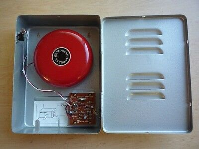 New Red Alarm  Bell In Box, 85 Decibels, Plus Extras