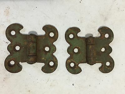 "2 Mission Art Craft Craftsman Shabby Chippy Cupboard Cabinet Steel Door 1"" Hinge"