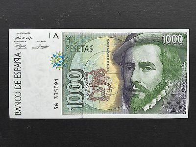 Spain 1000 Pesetas P163 Dated 12th October 1992 Uncirculated UNC