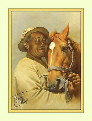 Man O of War Will Harbut Artist Fred Stone 8x10 Double Matted 5x7 Art Print