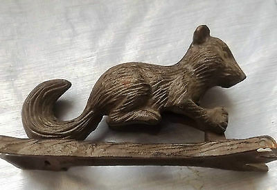 "Nice Squirrel Door Knocker  7 Tall 2"" wide & 3.5 deep   Cast Iron   Cute!"