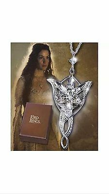 LOTR Arwen Evenstar Pendant Sterling Silver Noble Collection Necklace GIFT BOX