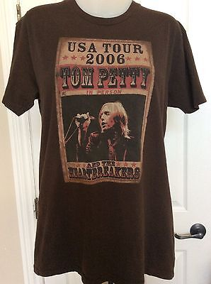 Vintage 2006 TOM PETTY And The Heartbreakers USA TOUR Concert T-Shirt Sz M