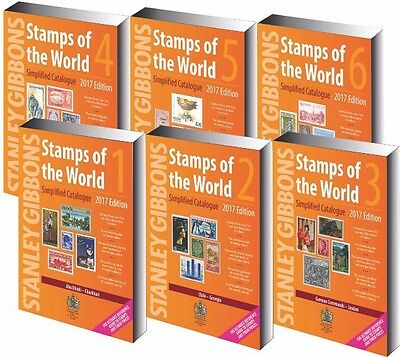 SG STAMPS OF THE WORLD SIMPLIFIED CATALOGUE 2017 -  6 VOLUMES - Preorder