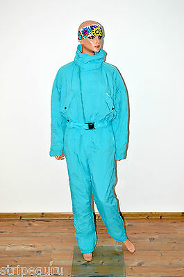 vintage retro ETIREL womens SKI SUIT onesie size M 80s all in one onepiece
