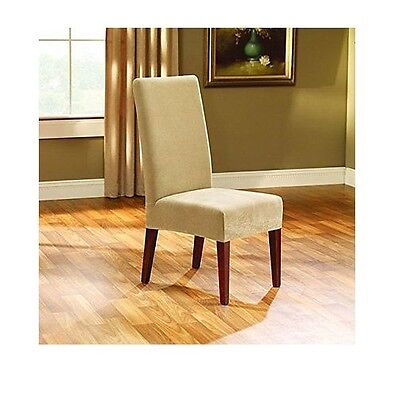 Sure Fit Stretch Leather Shorty Dining Room Chair Slipcover, CAMEL