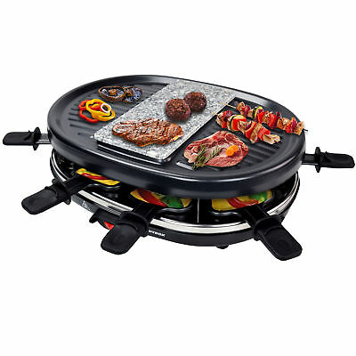 raclette 2in1 mit steinplatte grillplatte domo do9059g tischgrill 8 personen eur 48 35. Black Bedroom Furniture Sets. Home Design Ideas