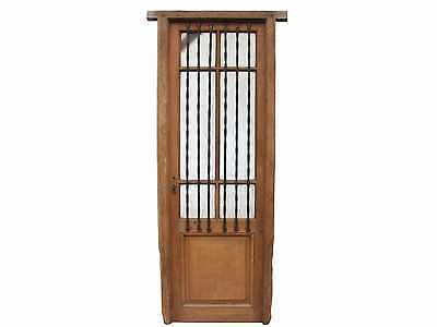 Single Front Door Wrought Iron Textured Glass #C1105
