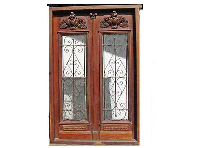 Double Entrance Door With Amazing High Relief #B1383