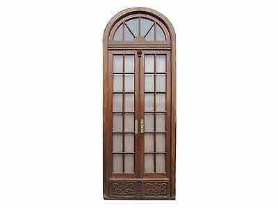 Antique Arched Double Patio Door w/ Beveled Glass #C1353