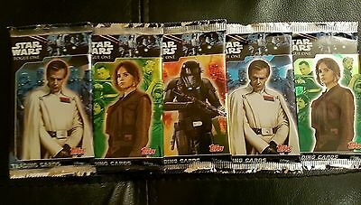 Topps Star Wars Rogue One Trading Cards Packets x5