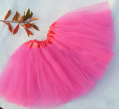 Baby Girl Hot Pink Tutu Skirts Photo Prop Size In Description