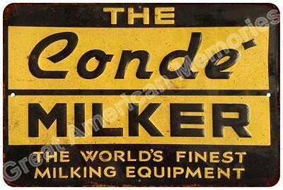 The Conde Milker Vintage Look Reproduction Metal Sign 8x12 8123636