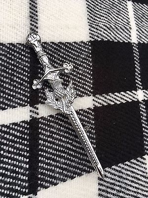 "New Scottish Thistle Kilt Pin 4""/Highland Kilt Pin Thistle Hilt/kilt Pins/kilt"