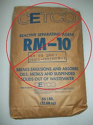 CETCO RM-10 Reactive Separating Agent REPLACEMENT Clay Wastewater Treatment Floc