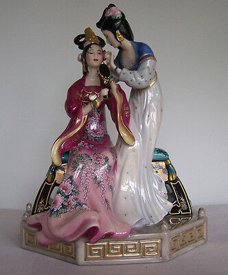 Franklin Mint Sisters Of Spring By Caroline Young Figurine- Mint